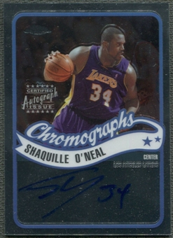 2003/04 Topps Chrome #CASO Shaquille O'Neal Auto