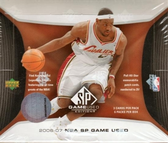 2006/07 Upper Deck SP Game Used Basketball Hobby Box