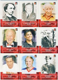 2011 In The Game Canadiana Red Complete 100 Card Set