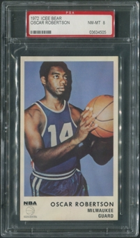 1972/73 Icee Bear Basketball #15 Oscar Robertson PSA 8 (NM-MT)