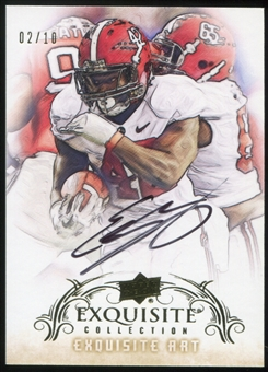 2013 Upper Deck Exquisite Collection Exquisite Art #EAEL Eddie Lacy 2/10