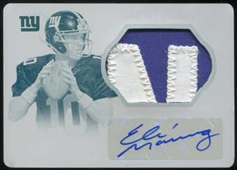 2013 Panini National Treasures Century Signature Materials Printing Plates Cyan #68 Eli Manning 1/1