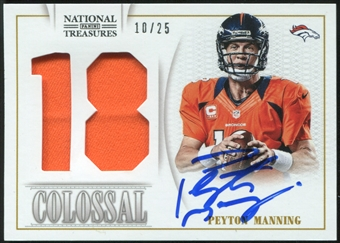 2013 Panini National Treasures Colossal Materials Signature Jersey Numbers #36 Peyton Manning 10/25
