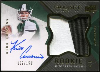 2012 Upper Deck Exquisite Collection #128 Kirk Cousins Rookie Autograph Patch 102/150