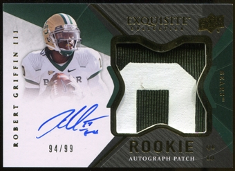 2012 Upper Deck Exquisite Collection #144 Robert Griffin III Rookie Autograph Patch 94/99