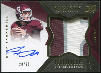 2012 Upper Deck Exquisite Collection #145 Ryan Tannehill Rookie Autograph Patch 20/99