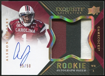 2012 Exquisite Collection Rookie Gold Holofoil #135 Alshon Jeffery Rookie Autograph Patch 35/50