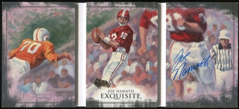 2013 Exquisite Collection Triptych Signatures #TSJN Joe Namath 1/3