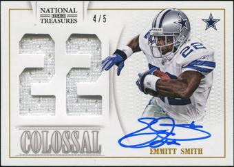 2013 Panini National Treasures Colossal Materials Signature Jersey Numbers #23 Emmitt Smith 4/5