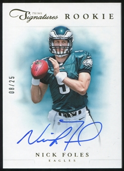 2012 Panini Prime Signatures Autographs Gold #263 Nick Foles RC 8/25