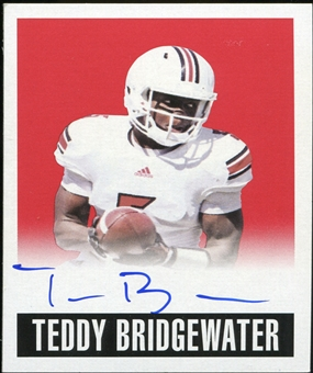 2014 Leaf Originals '48 Autographs Alternate Art Red #ATB1 Teddy Bridgewater 5/5