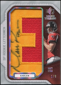 2008 SP Rookie Threads Rookie Lettermen College Nickname Autographs #MR40 Matt Ryan 1/8