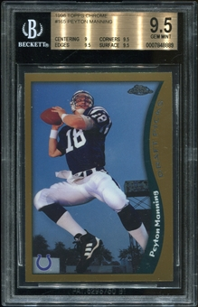 1998 Topps Chrome #165 Peyton Manning RC BGS 9.5 Gem Mint