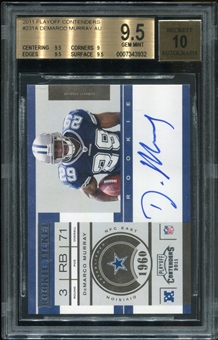 2011 Playoff Contenders #231A DeMarco Murray AU RC BGS 9.5 Gem Mint