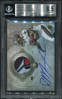 2012 Topps Valor Shield of Honor Patch Autographs #SOHDM Doug Martin RC 21/26 BGS 8.5 NM-MT+