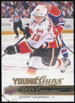2014/15 Upper Deck Canvas #C96 Johnny Gaudreau YG RC Young Guns Rookie Card