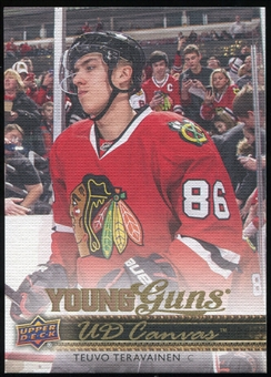 2014/15 Upper Deck Canvas #C98 Teuvo Teravainen YG RC Young Guns Rookie Card