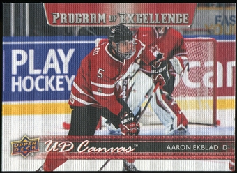 2014/15 Upper Deck Canvas #C268 Aaron Ekblad POE Programme of Excellence Team Canada