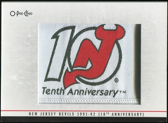 2012/13 Upper Deck O-Pee-Chee Team Logo Patches #TL58 New Jersey Devils 1991-92 10th anniversary