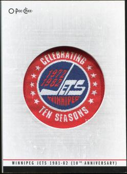 2012/13 Upper Deck O-Pee-Chee Team Logo Patches #TL62 Winnipeg Jets 1981-82 10th anniversary