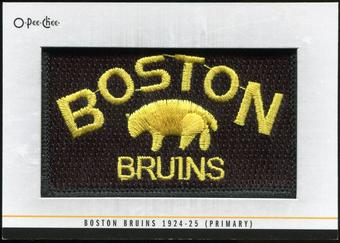 2012/13 Upper Deck O-Pee-Chee Team Logo Patches #TL74 Boston Bruins 1924-25 Primary