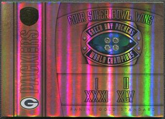 2011 Panini Gold Standard #10 Green Bay Packers Super Bowl Rings Diamond #1/4