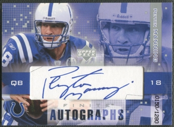 2003 Upper Deck #PM1 Peyton Manning Finite Auto #0150/1280