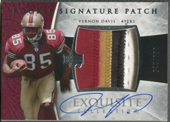 2006 Exquisite Collection #133 Vernon Davis Rookie Patch Auto #059/225