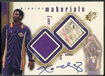 2000/01 SPx #KBA3 Kobe Bryant Winning Materials Shoe Auto