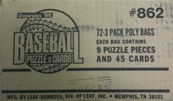 1986 Donruss Baseball Rack Box