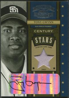 2004 Throwback Threads #58 Tony Gwynn Century Stars Signature Material Jersey Auto #4/5