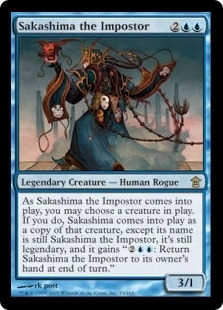 Magic the Gathering Saviors of Kami Single Sakashima the Imposter FOIL
