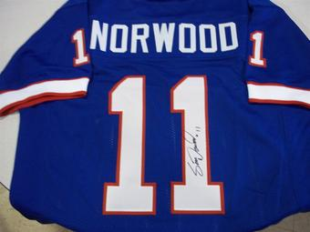 Scott Norwood Autographed Buffalo Bills Football Jersey