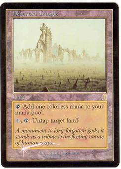 Magic the Gathering Odyssey Single Deserted Temple Foil NEAR MINT (NM)