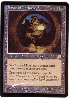 Magic the Gathering Onslaught Single Cover of Darkness Foil