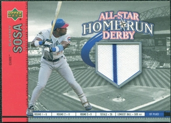 2002 Upper Deck All-Star Home Run Derby Game Jersey #ASSS2 Sammy Sosa Cubs
