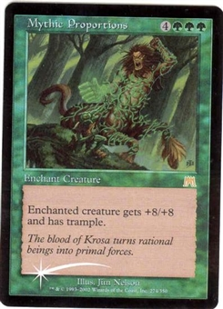 Magic the Gathering Onslaught Single Mythic Proportions Foil