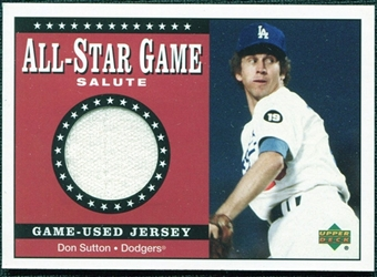 2002 Upper Deck All-Star Salute Game Jersey #SJDS Don Sutton