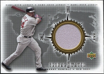 2002 Upper Deck Global Swatch Game Jersey #GSMR Manny Ramirez