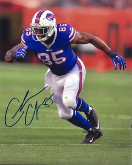 Charles Clay Autographed Buffalo Bills Blue 8x10 Football Photo