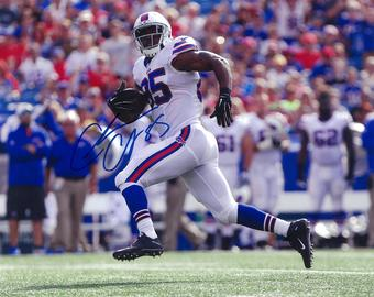 Charles Clay Autographed Buffalo Bills Run 8x10 Football Photo