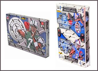 COMBO DEAL - Panini Totally Certified Football Hobby Boxes (2013, 2014)