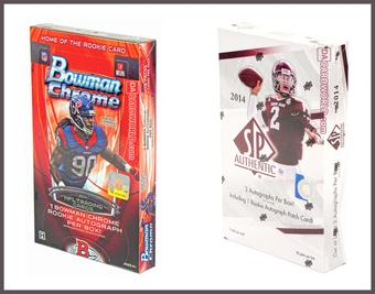 COMBO DEAL - 2014 Football Hobby Boxes (Bowman Chrome, SP Authentic)