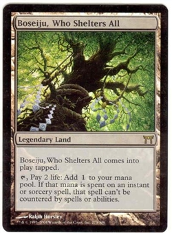 Magic the Gathering Champs of Kamigawa Single Boseiju, Who Shelters All FOIL