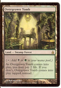 Magic the Gathering Ravnica Single Overgrown Tomb - SLIGHT PLAY (SP)