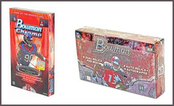 COMBO DEAL - 2014 Bowman Football Hobby Boxes (Bowman Chrome, Bowman Sterling)
