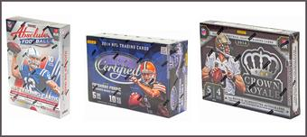 COMBO DEAL - 2014 Panini Football Hobby Boxes (Absolute, Certified, Crown Royale)