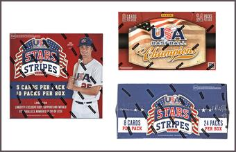 COMBO DEAL - Panini USA Baseball Boxes (2013 USA Champions, 2015 Stars & Stripes, 2015 Stars & Longevity)