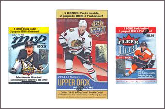 COMBO DEAL - 2014/15 Upper Deck Hockey Blaster Boxes (Ultra, MVP, Series 1)
