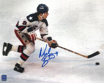 Neal Broten Autographed USA Miracle on Ice 8x10 Photo